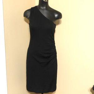 Banana Republic Wool Blend One Shoulder Dress